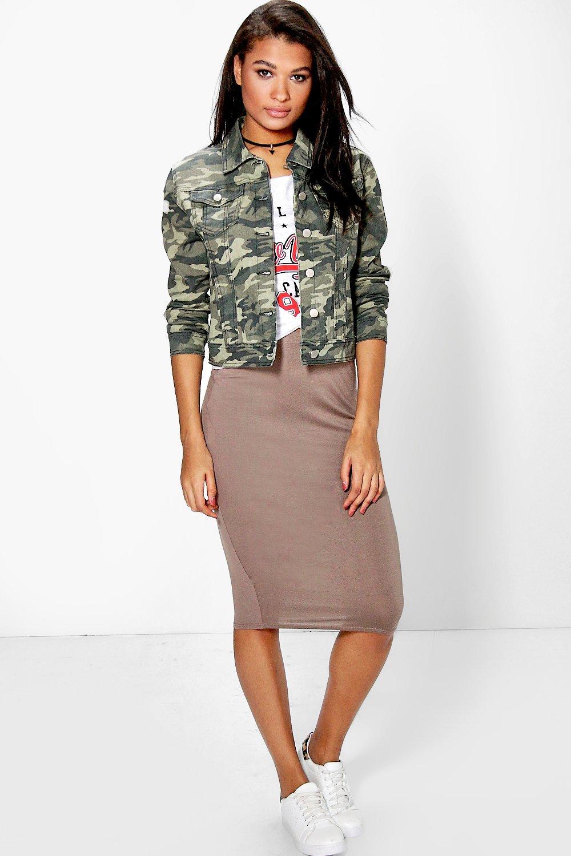 Boohoo Womens Bella Basic Jersey Midi Skirt | eBay