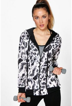 Abbie Mono Print Sports Jacket