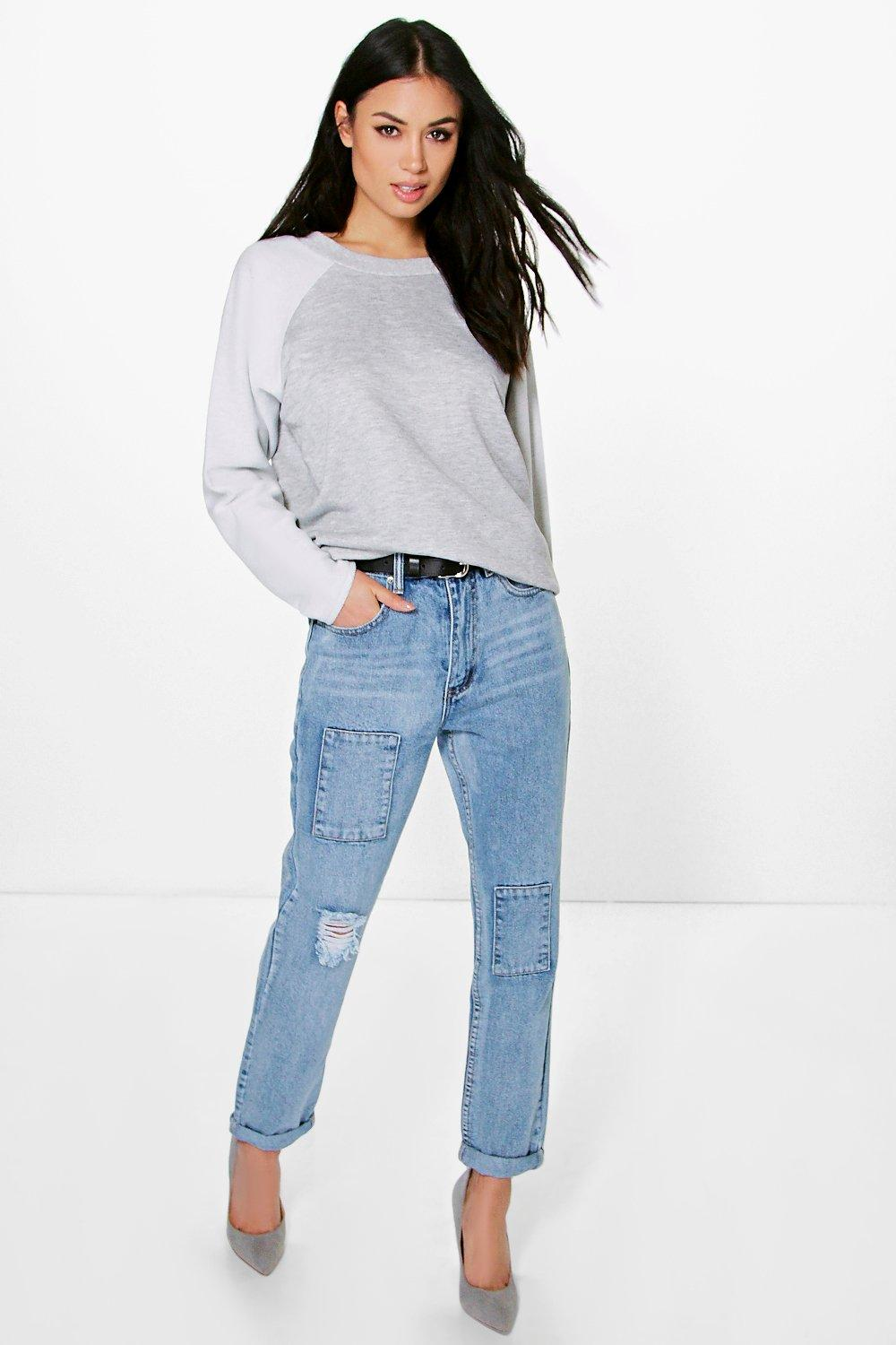 Kimmy Distressed Mom Jeans