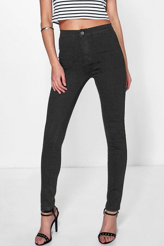 Ava High Rise Skinny Tube Jeans