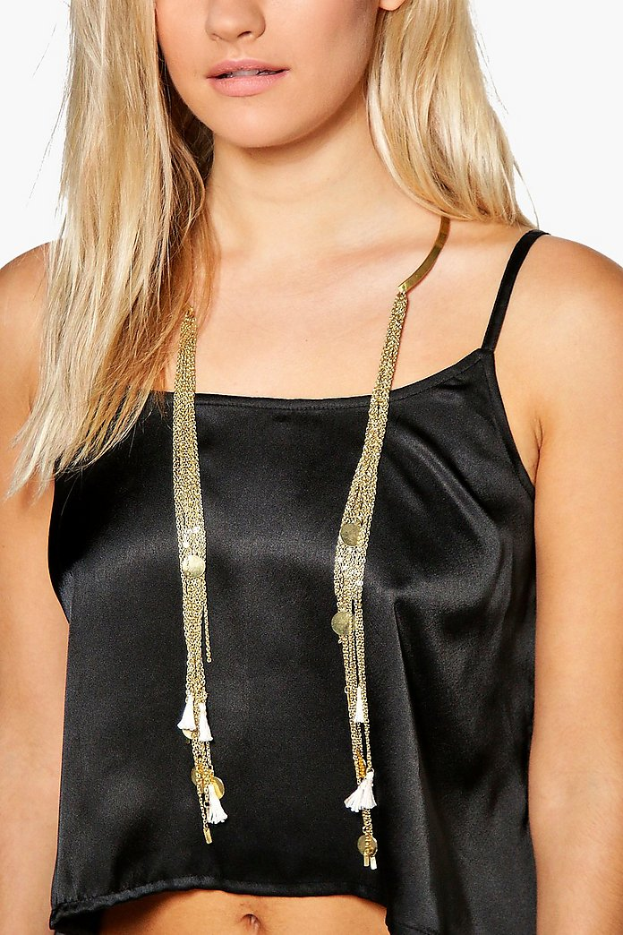 Lydia Statement Tassel Chain Choker