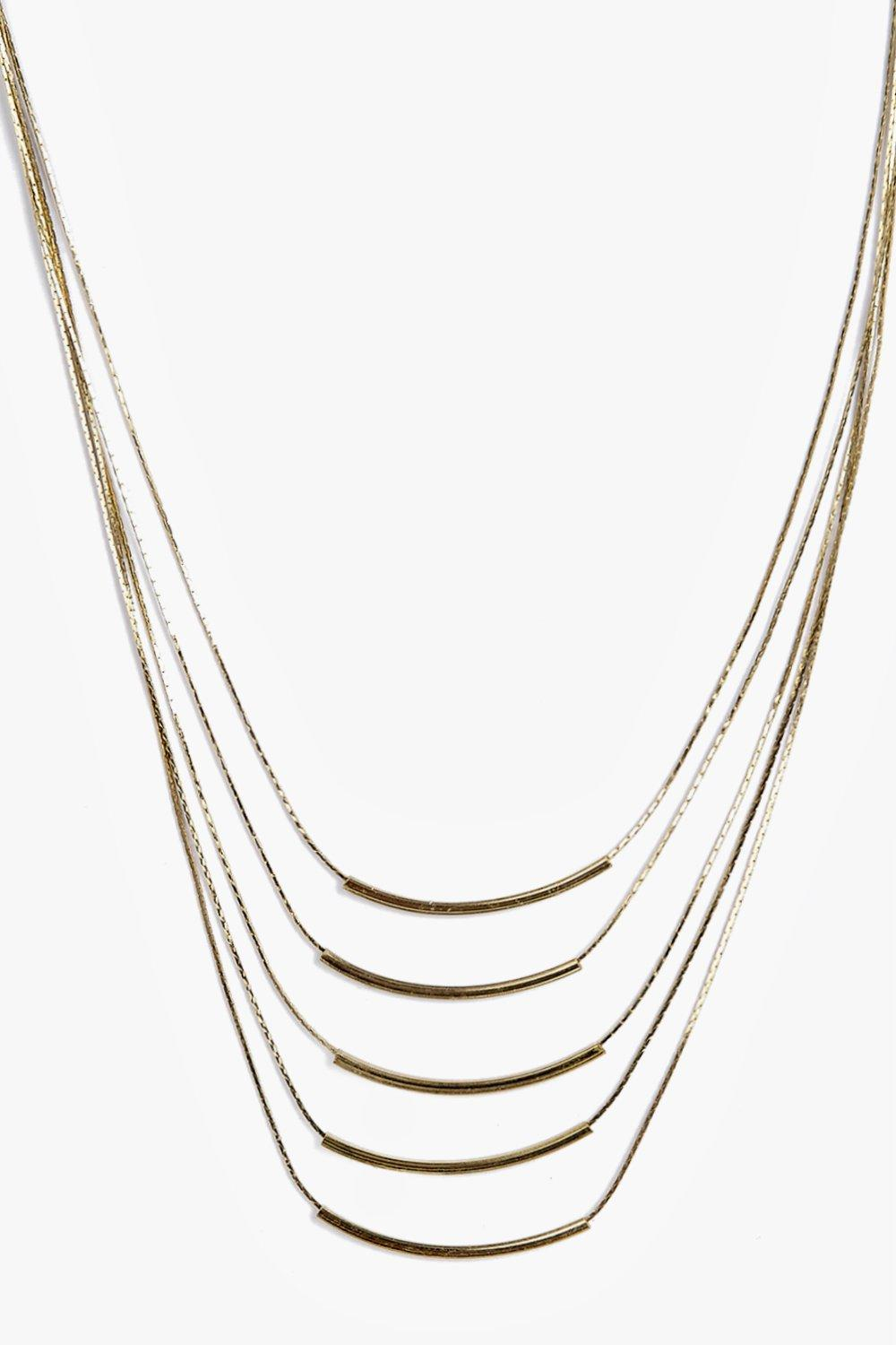 Jemima Layered Fine Bar Necklace
