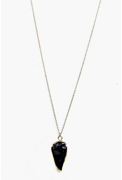 Lucia Crystal Pendant Skinny Necklace