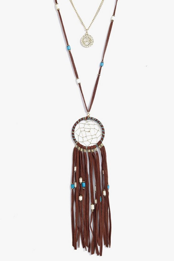Tilly Dreamcatcher Tassel Layered Necklace