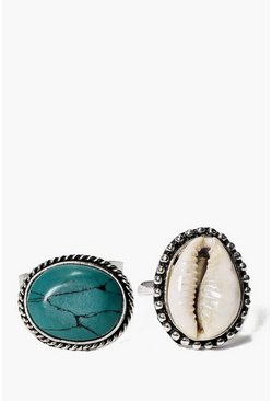 Sarah Shell And Large Stone Ring Pack