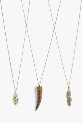 Ava Feather Antique Arrow Necklace Pack