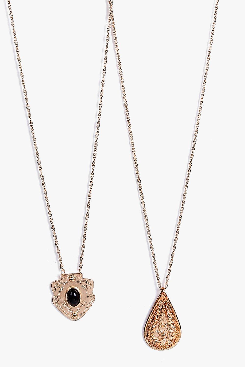Eva Stone Pendant Pear Drop Necklace Pack
