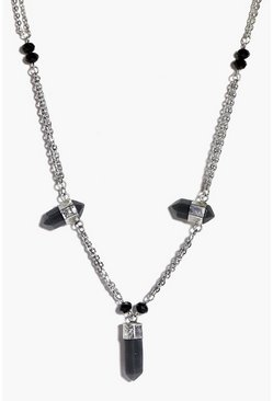 Ella Multi Crystal Skinny Necklace