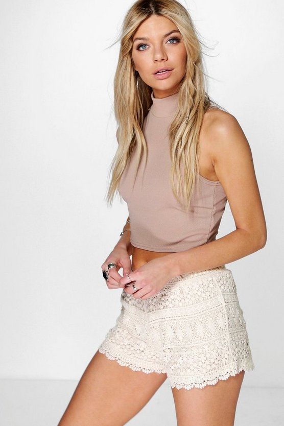 Jessica Crochet Runner Shorts