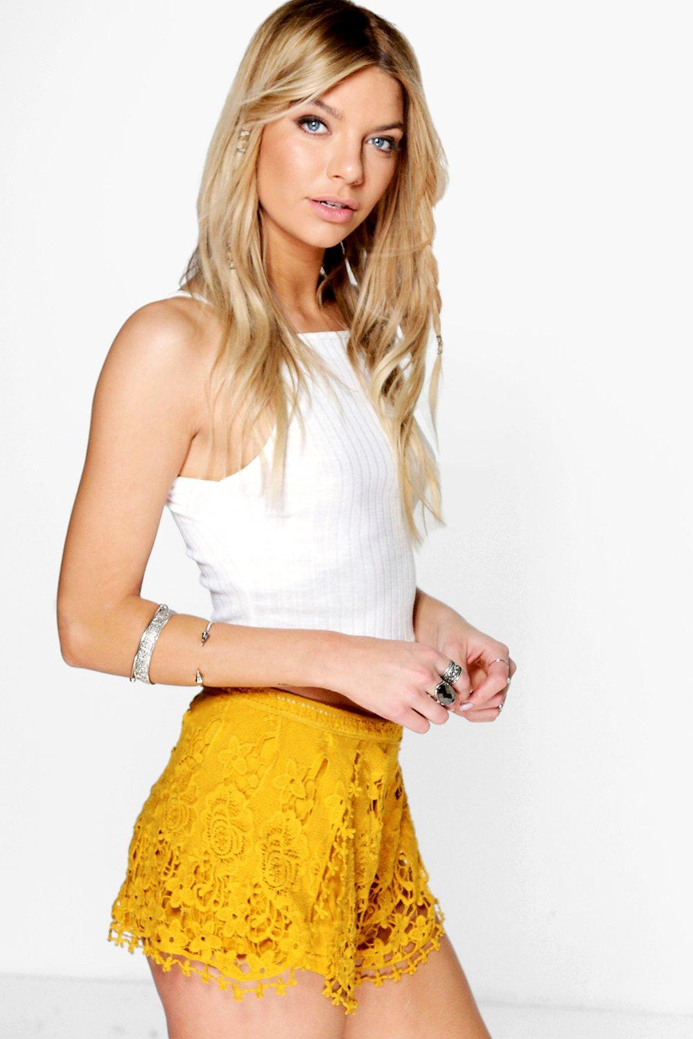 Alice All Over Crochet Runner Shorts