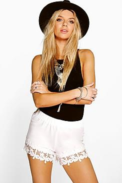 Freya Crochet Trim Shorts