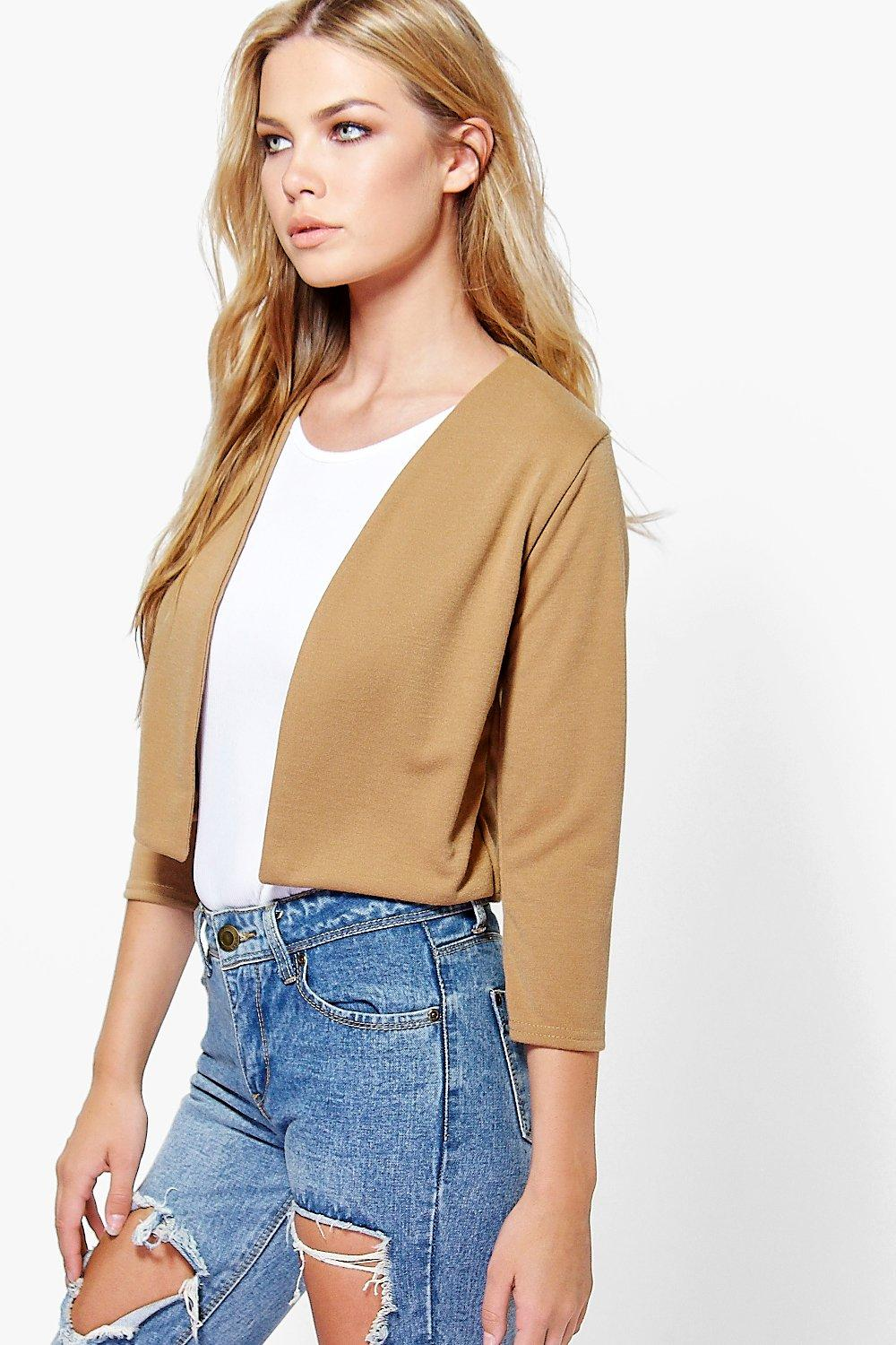 Katie Crop Ponte Edge To Edge Blazer