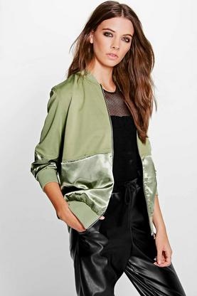 Lexi Satin Panel MA1 Bomber