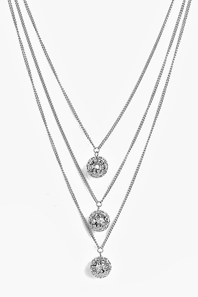 Eve Multi Layer Enclosed Charm Necklace