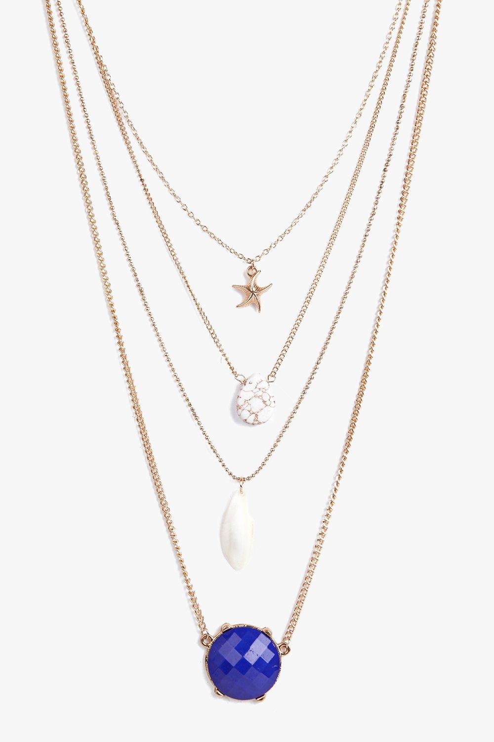 Victoria Star Crystal Layered Necklace