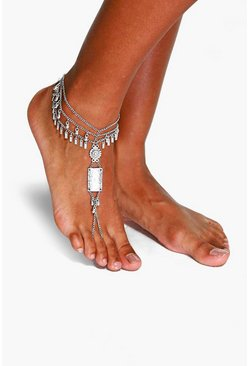 Emma Statement Multi Chain Anklet