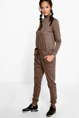 Julie High Neck Knitted Relaxed Jumpsuit