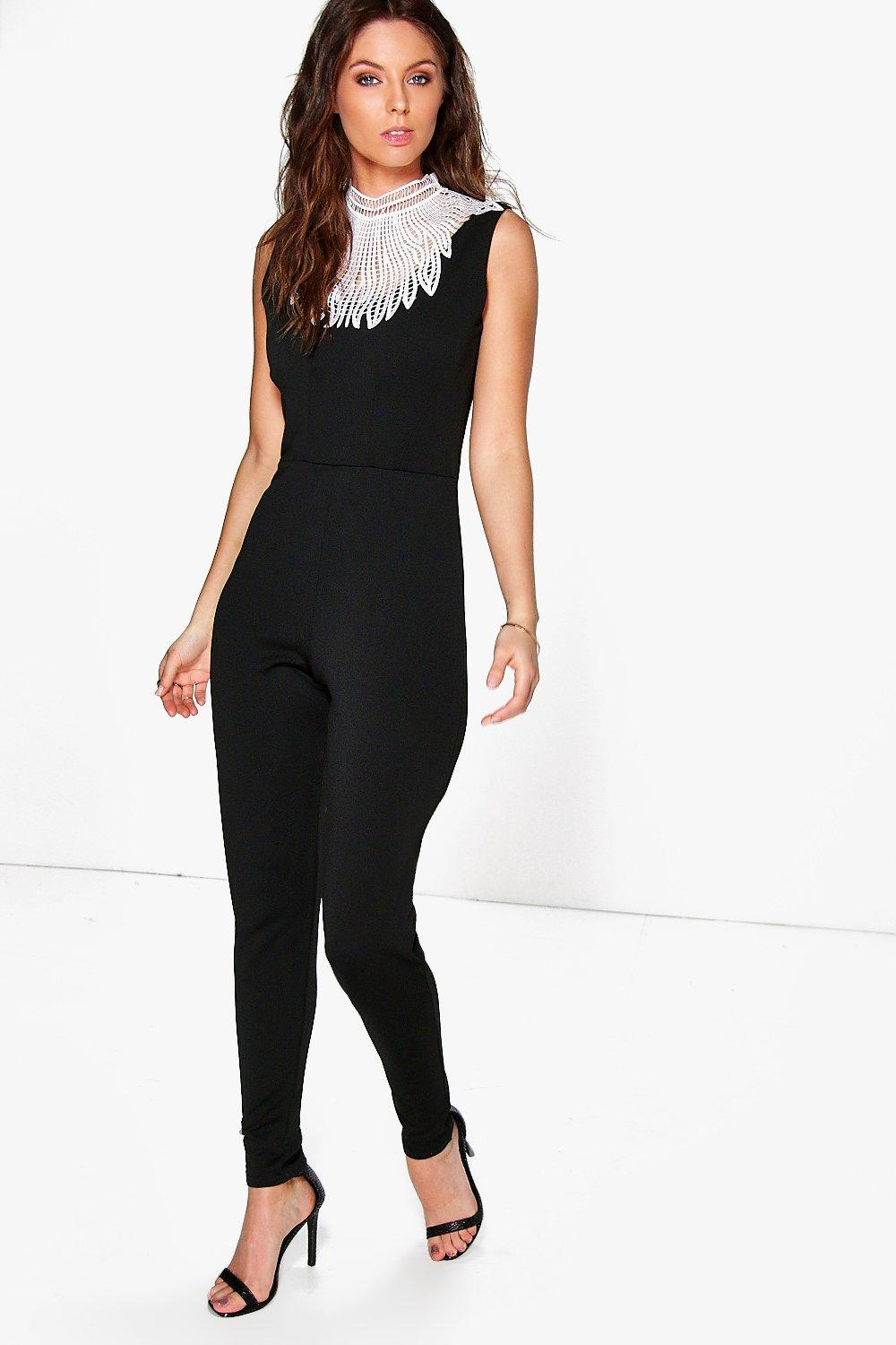 Lily Statement Neck Skinny Leg Jumpsuit