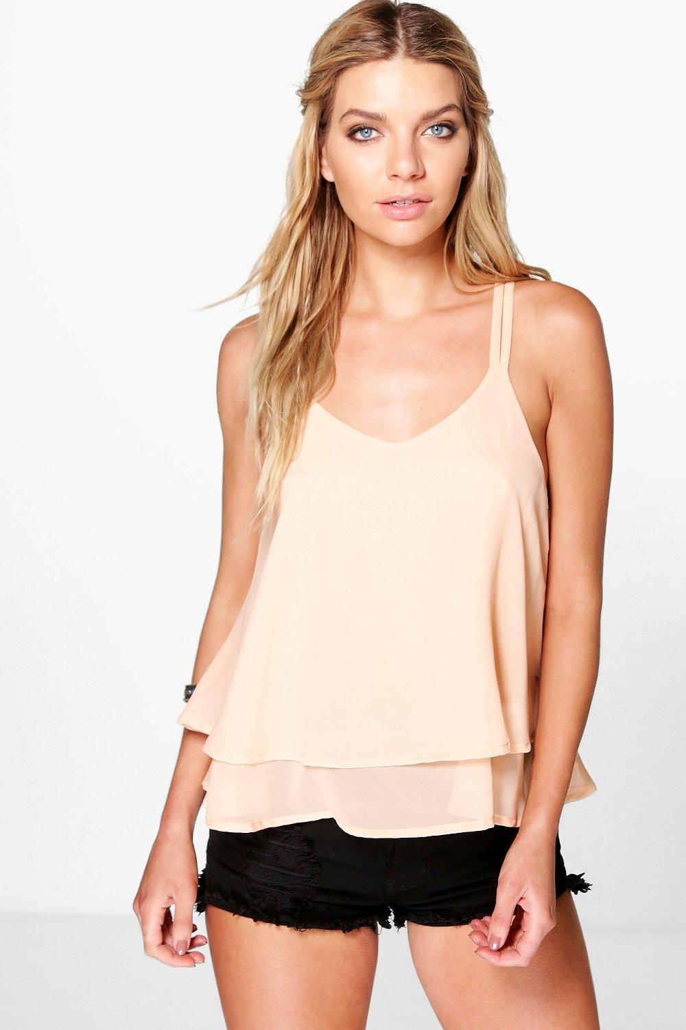 Amy Woven Double Layer Cami