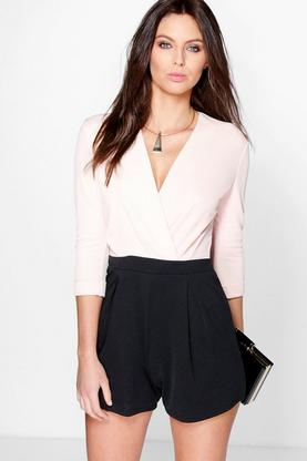 Amy Wrap Over Tailored Playsuit