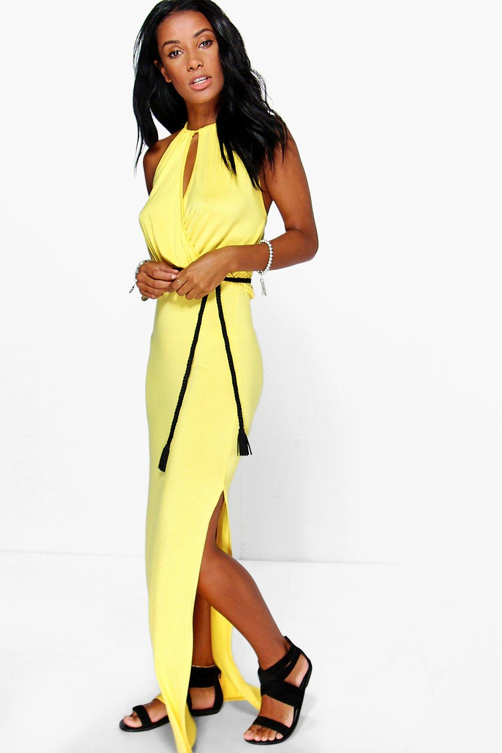 Louise Wrap Front Maxi Dress