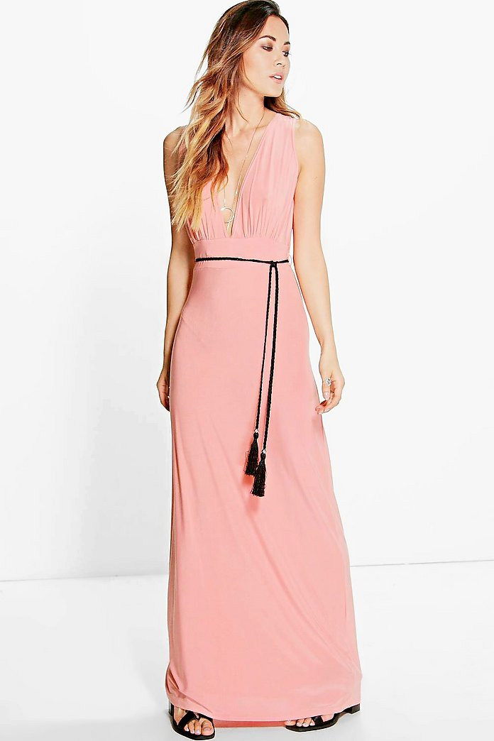 Henrietta Rope Tie Maxi Dress