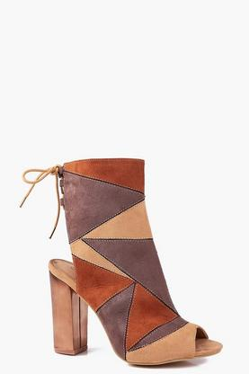 Alyssa Patchwork Peeptoe Shoe Boot