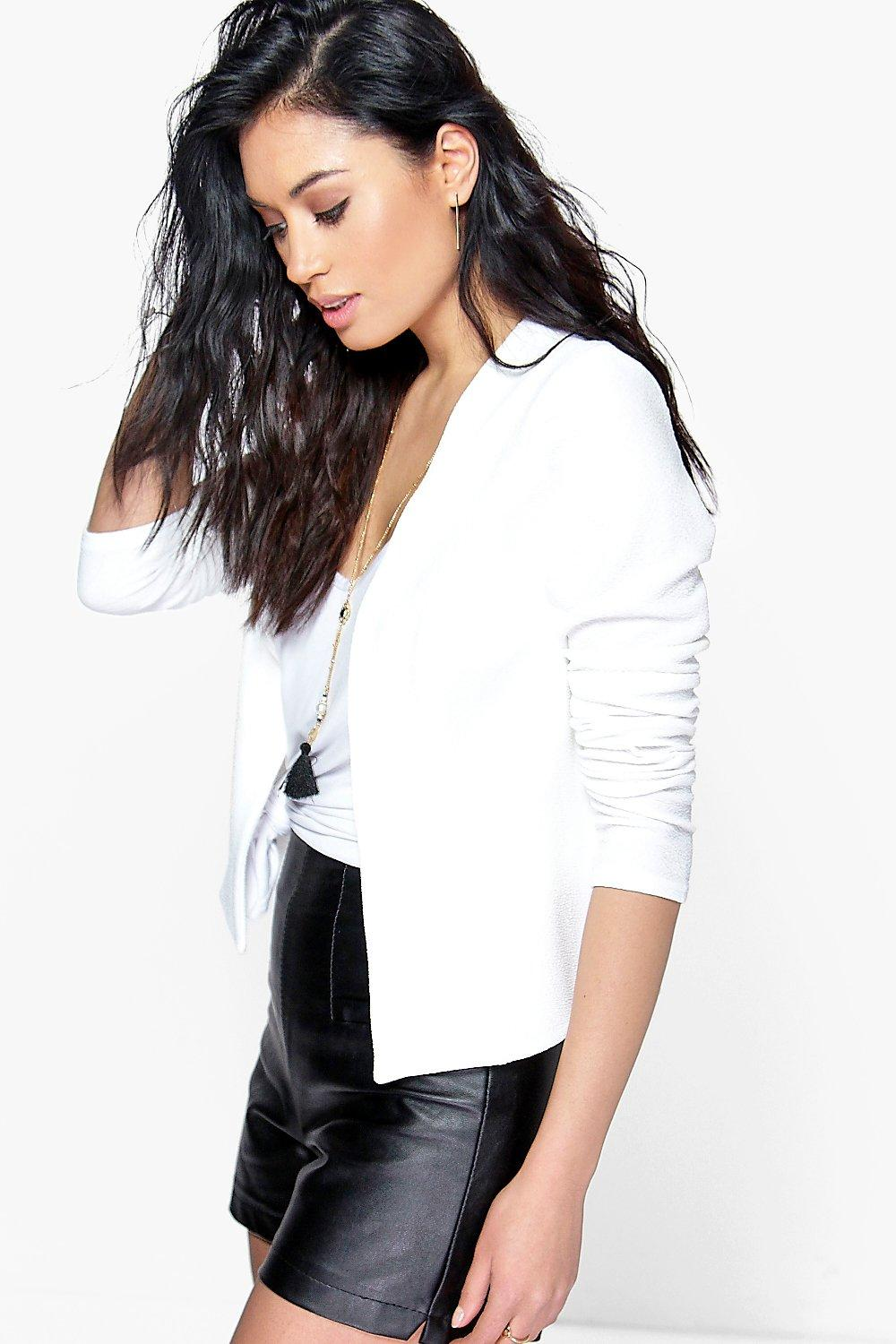 Anna Collarless Edge To Edge Blazer
