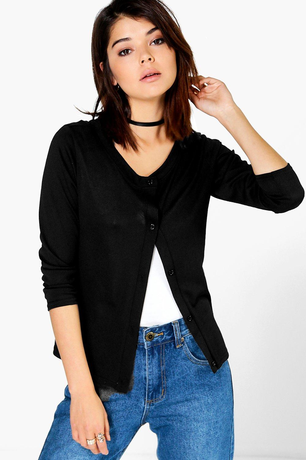 Hannah Fine Gauge Button Up Cardigan