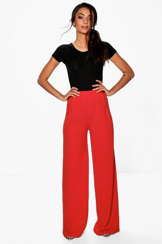 Tall Wide Leg Pleat Front Trouser