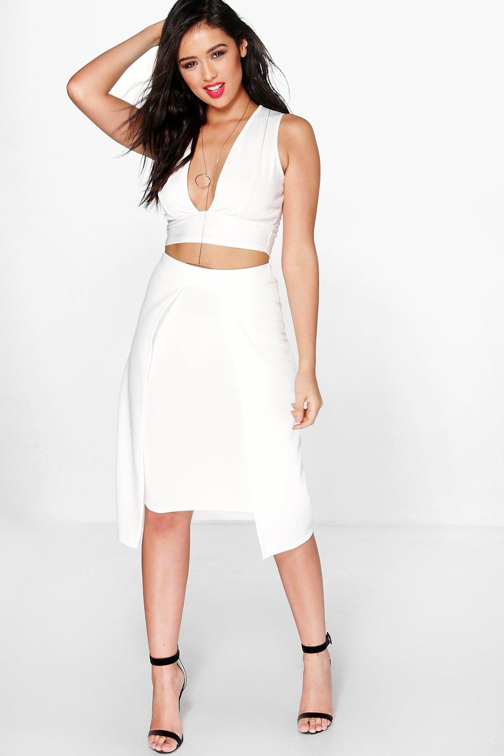 Tall Sofia Split Front Midi Skirt