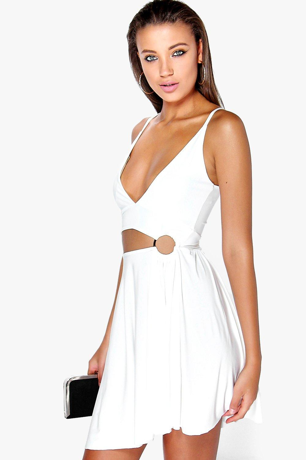 Ella O Ring Cross Front Dress