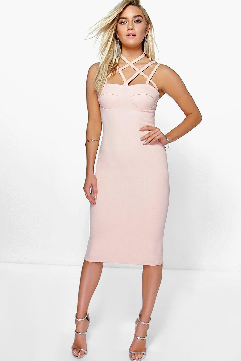 Sophie Cross Strap Bodycon Dress