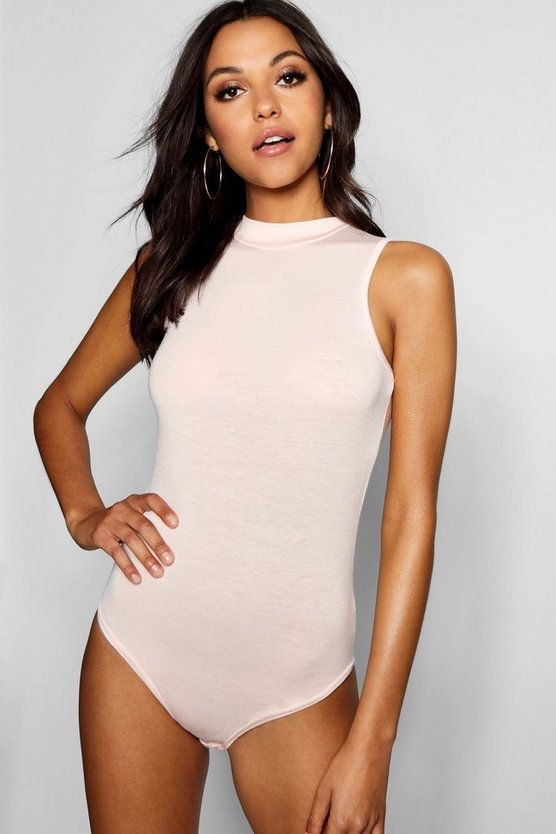 Tall High Neck Sleeveless Bodysuit