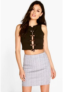 Rosie Square Lace Up Crop