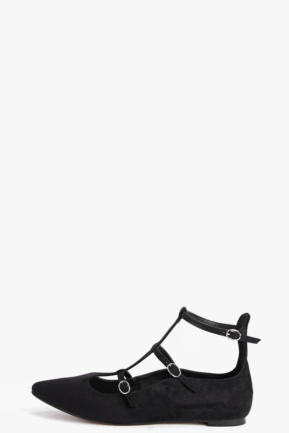 Anya Multi Strap And Buckle Ballet