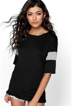 Martha Baseball Sleeve Basic Tee