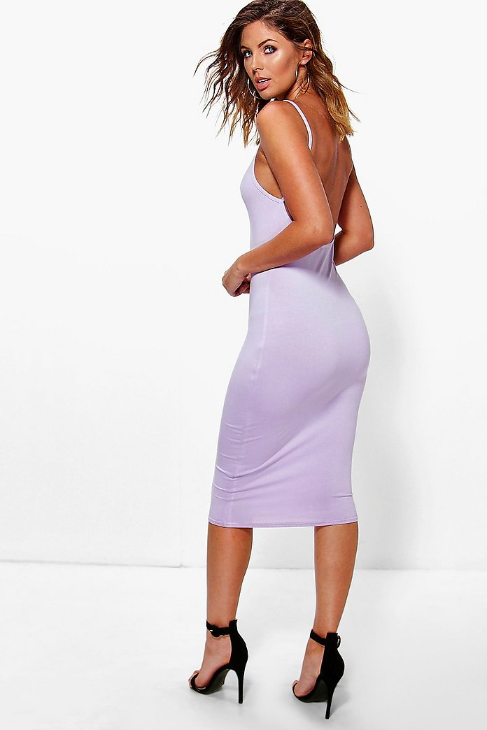 Ellis Scoop Back Midi Dress