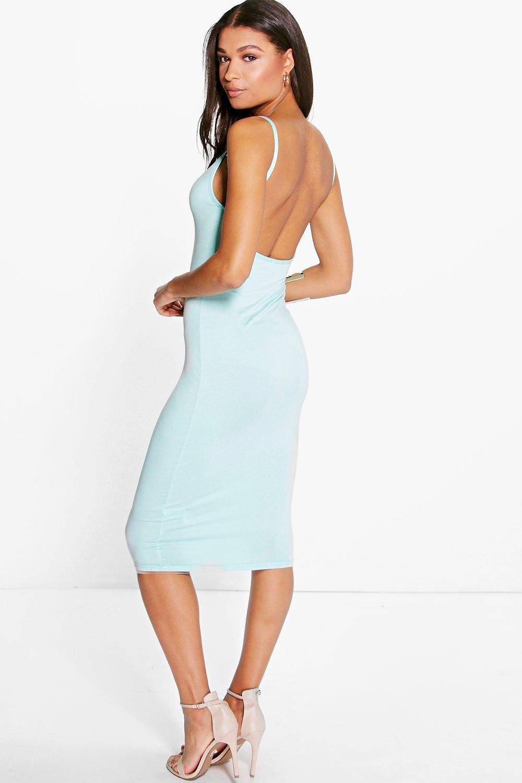 Scoop Back Midi Dress sage