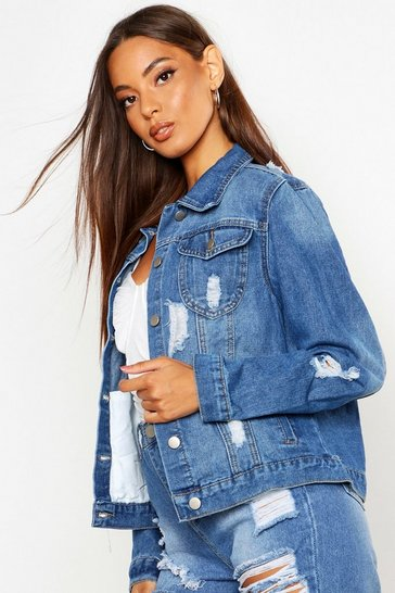 Pale blue Western Denim Jacket