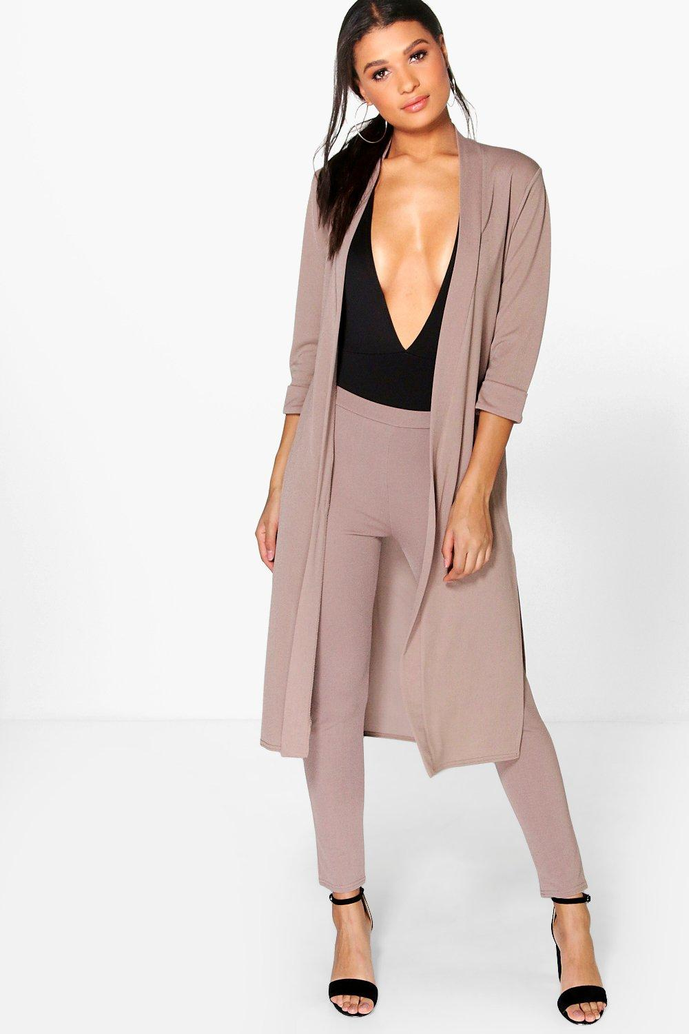 Mya Skinny Crop Trouser & Duster 2 Piece Suit