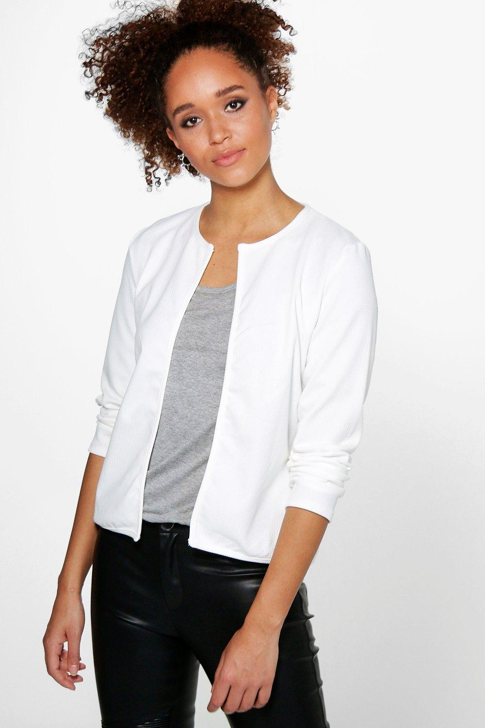 Emily Textured Edge To Edge Jacket