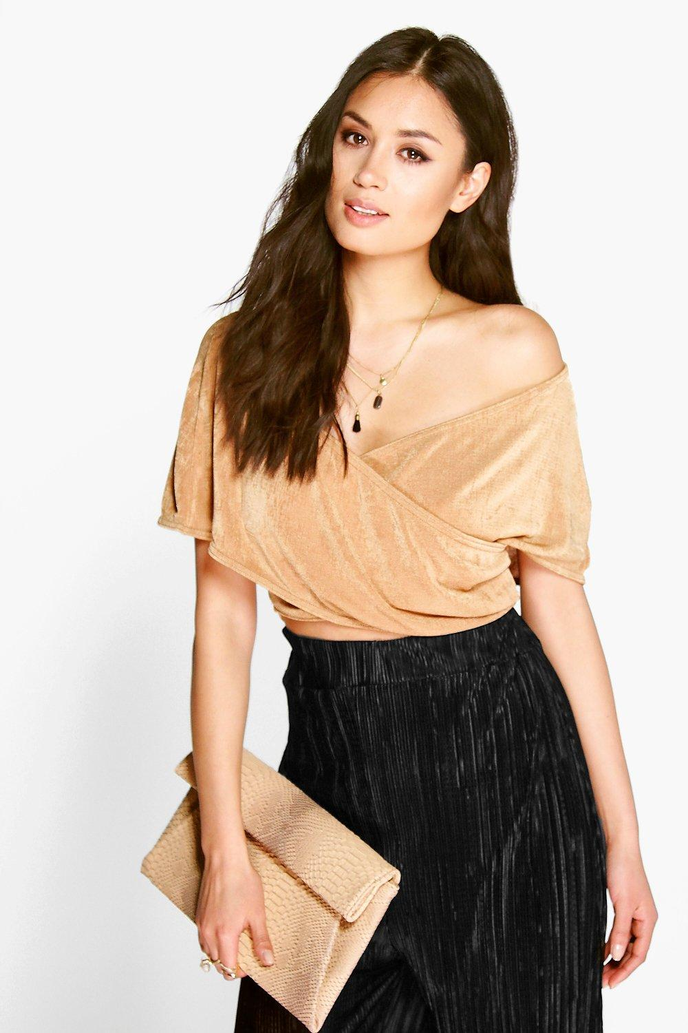 Eva Wrap Over Bardot Top