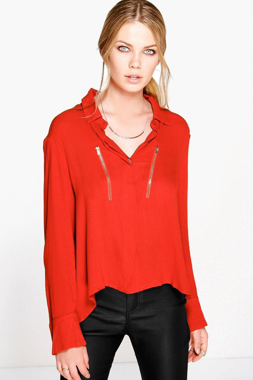 Annabel Zip Detail Shirt