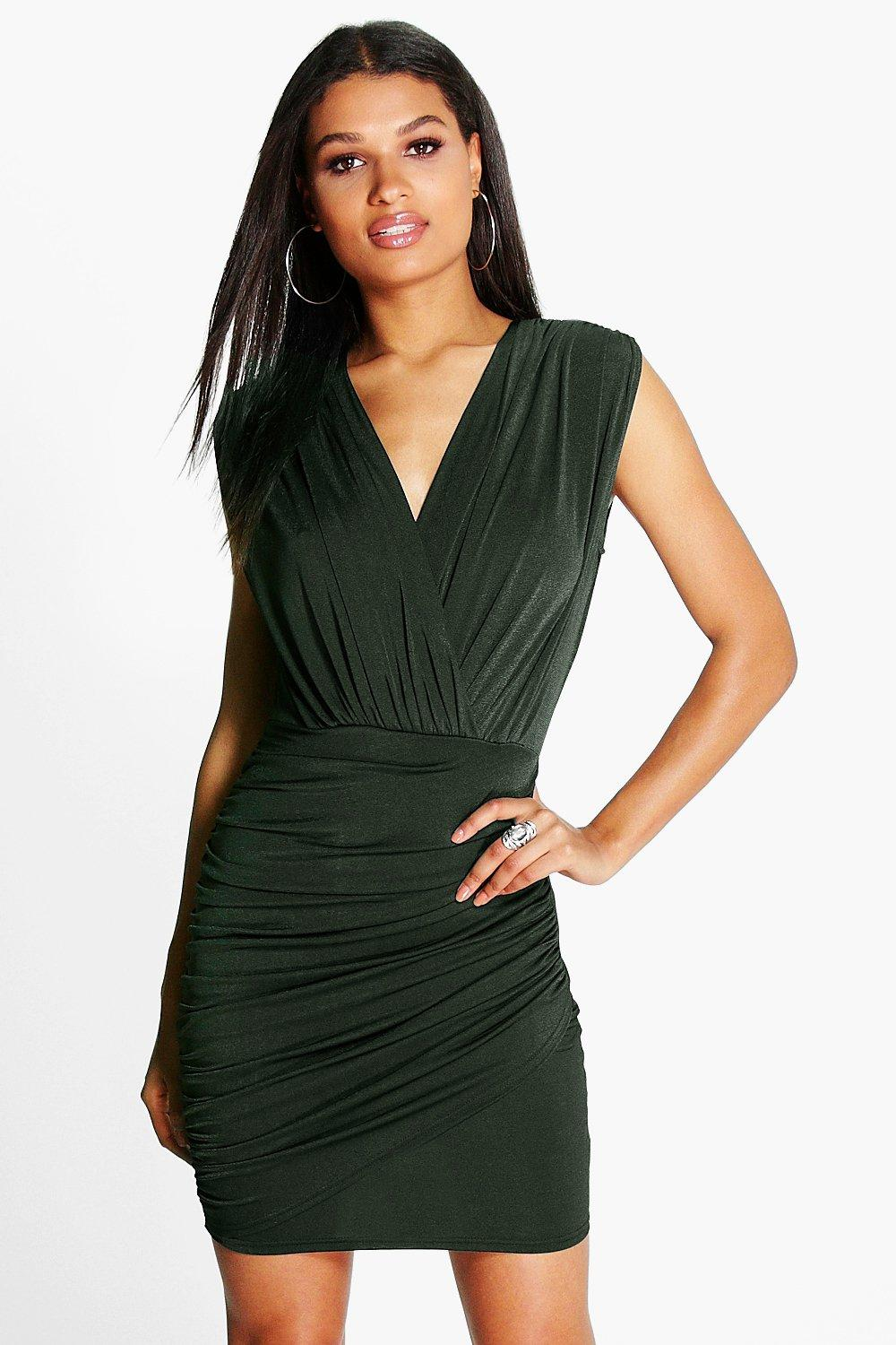 Jemma Slinky Wrap Front Bodycon Dress