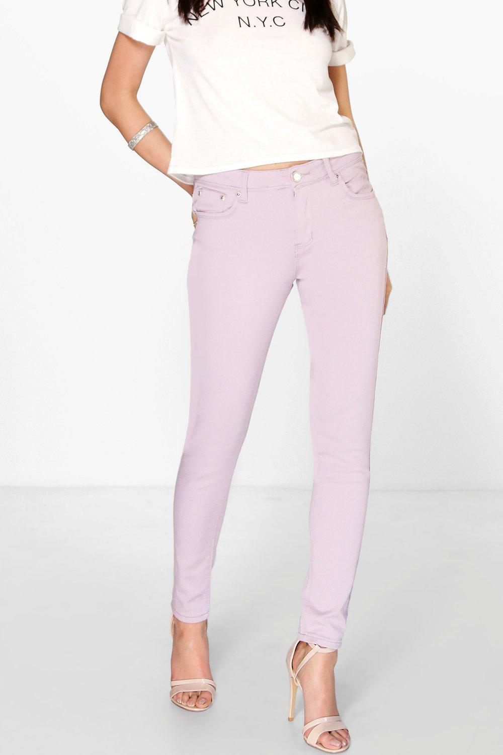 Mid Rise Skinny Jeans lilac