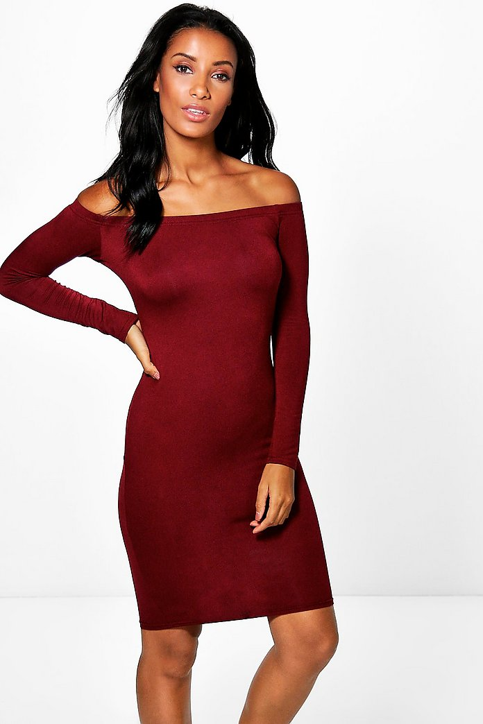 Ria Off The Shoulder Midi Dress