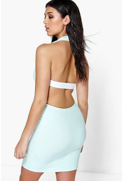 Honey Cut Out Back Sleeveless Bodycon Dress