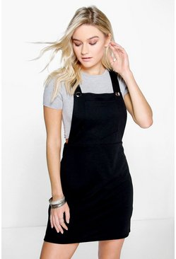 Abby Cross Back Ponte Pinafore Dress