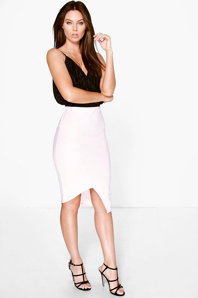 Ellie Panelled Asymetric Midi Skirt